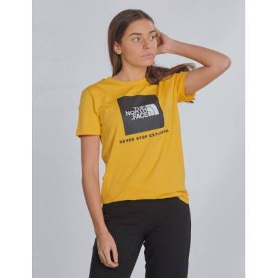 The North Face, BOX S/S TEE, Gul, T-shirt/toppe till Pige, XL - Børnetøj - The North Face