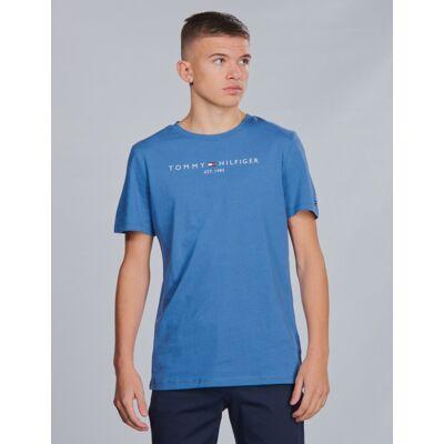Tommy Hilfiger, ESSENTIAL HILFIGER TEE, Blå, T-shirt/toppe till Dreng, 14 år - Børnetøj - Tommy Hilfiger