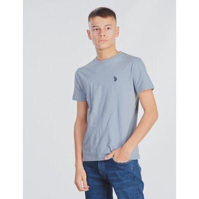 US Polo, Core Jersey T-Shirt, Blå, T-shirt/toppe till Dreng, 8-9 år - Børnetøj - US Polo