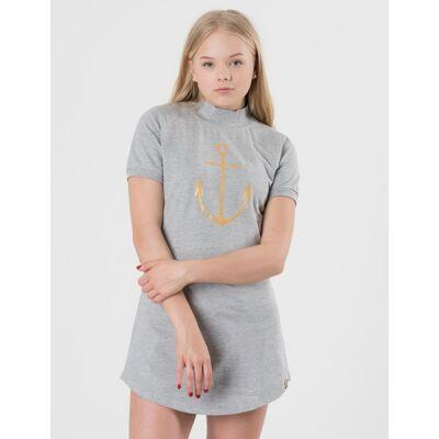 Way Ink Girl, Ellie SS Dress, Grå, Kjoler/nederdele till Pige, 170-176 - Børnetøj - Way Ink Girl