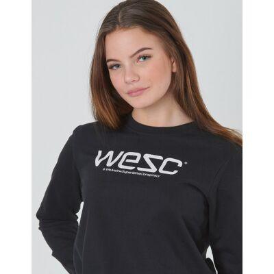 WeSC, WESC SWEATSHIRT JR, Sort, Trøjer/Cardigans till Pige, 134 cm - Børnetøj - WeSC