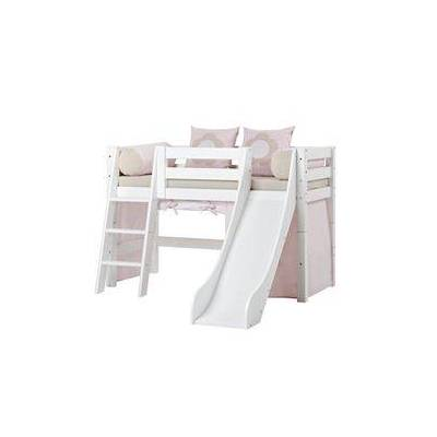 Hoppekids halvhøj seng med rutsjebane - Premium - Fairytale Flower - Babymøbler - Array