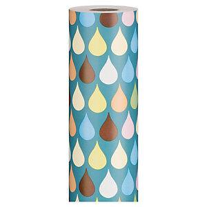 Flerfarvet gavepapir - Drops