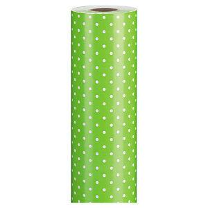 Flerfarvet gavepapir - Pricking lime