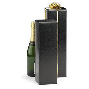 Sort Gaveæske til champagne 10x10x34