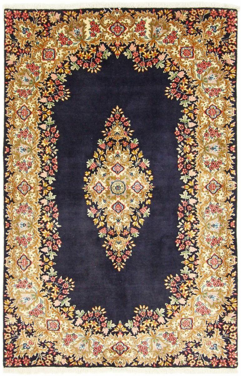 Nain Trading Kerman Tæppe 190x120 Dark Grey/Dark Brown (Persien / Iran, Villa, Käsinommeltu)