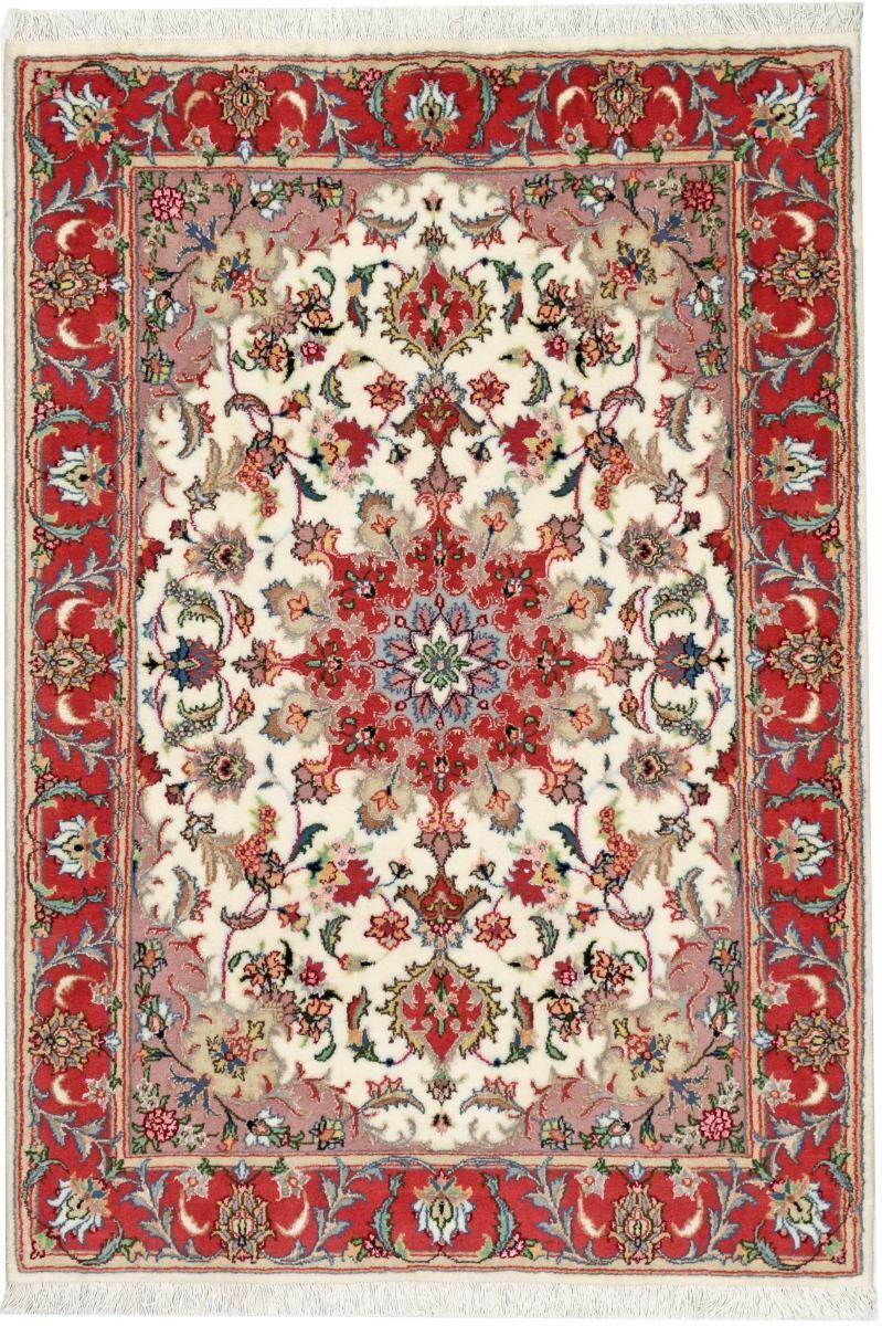 Nain Trading Persisk Tabriz 50Raj Tæppe 183x128 Dark Brown/Orange (Käsinommeltu, Persien / Iran, Villa / silkki)