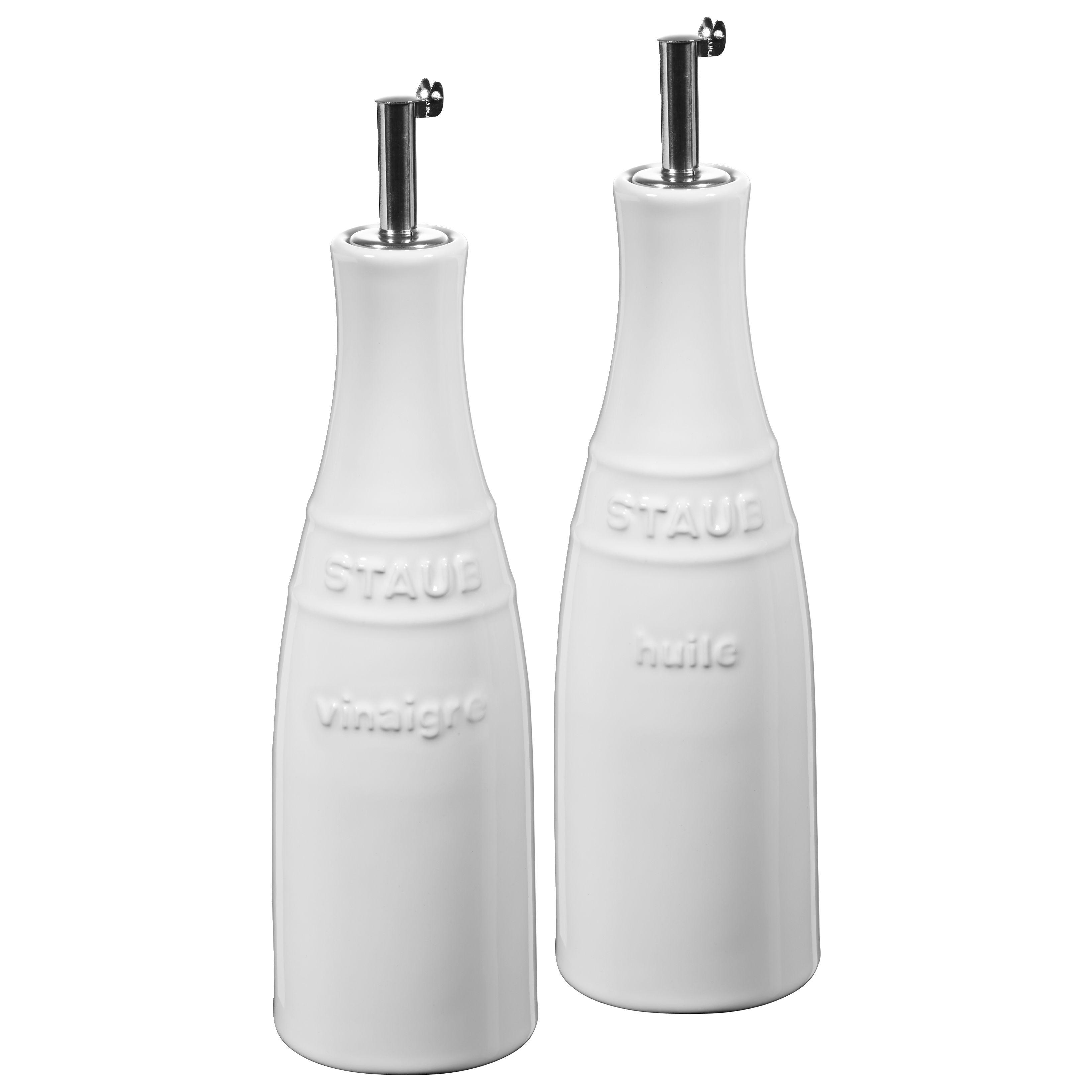 Staub Olie- og eddikesæt 20 cm, Stentøj, Ren Hvid