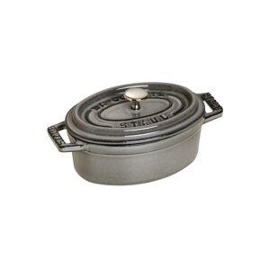 Staub Mini Cocotte Oval Grafitgrå, Cocotte, 11 cm, Grafitgrå