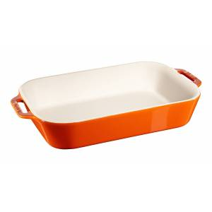 Staub Rektangulært fad, orange, Tilberedning, Orange