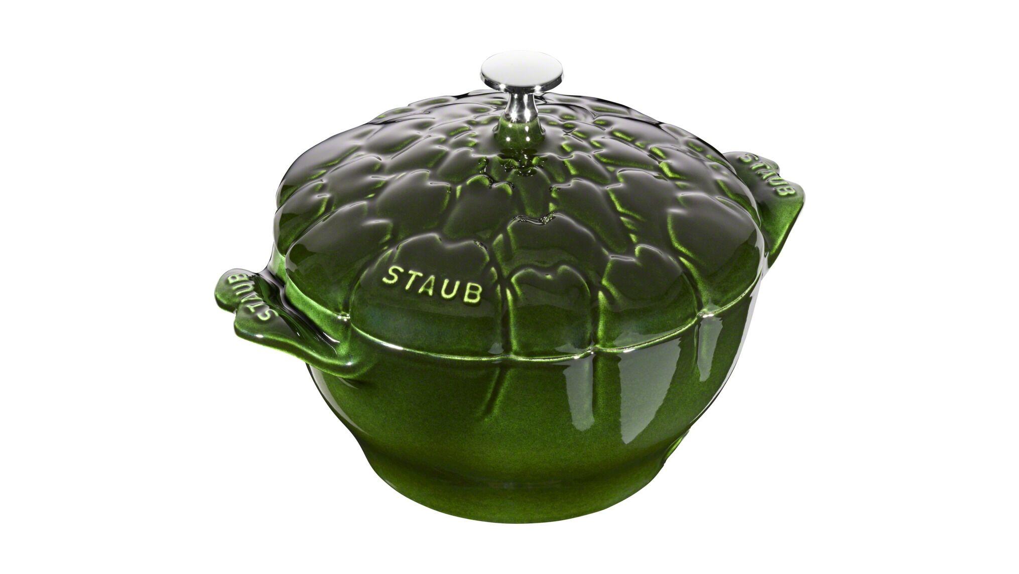 Staub Artiskok cocotte, Unikke gryder, 22 cm, Basilikumgrøn