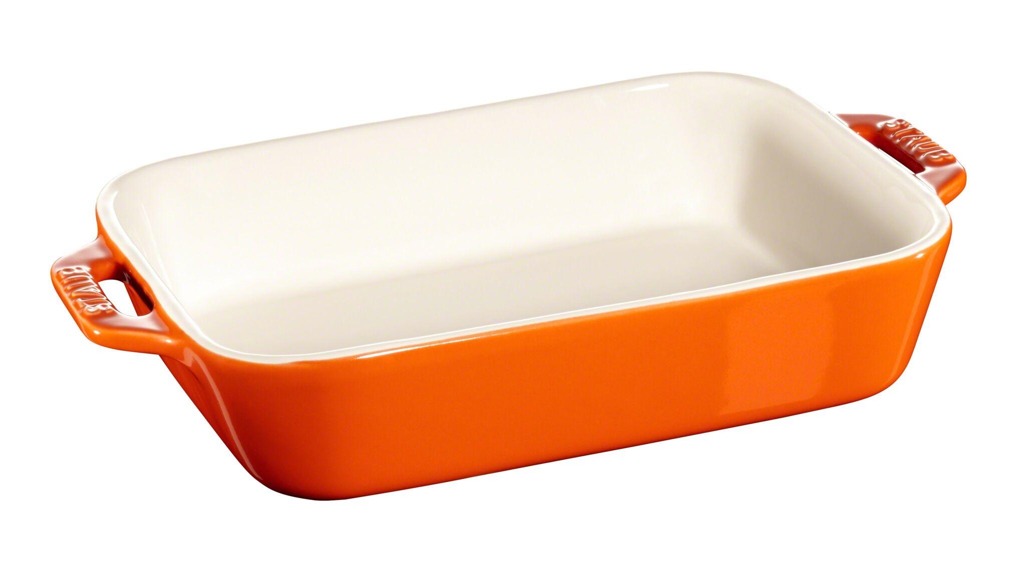Staub Rektangulært fad, orange, 26x17cm, Tilberedning, Orange