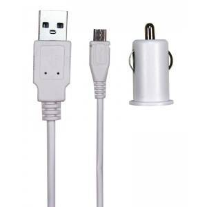 12V MicroUSB Charger White 1.5meter 2.1A