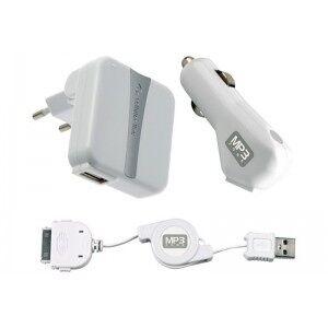 Apple iPod Charger Kit USB,Car&230V