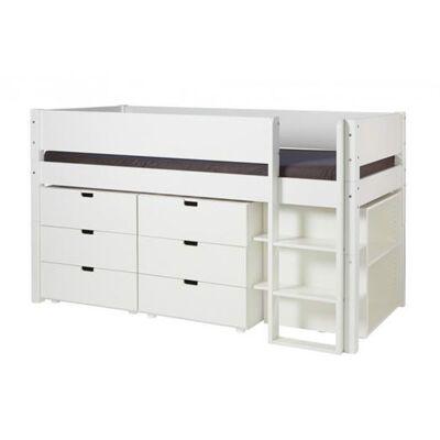 Manis-h Halvhøj seng med opbevaring, 90x200 cm - Manis-h - Babymøbler - Manis-h