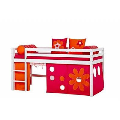 Hoppekids Forhæng, Flower Power til halvhøj seng - Hoppekids - Babymøbler - Hoppekids