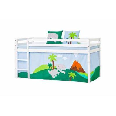 Hoppekids Forhæng, Dino til halvhøj seng 90x200 cm - Hoppekids - Babymøbler - Hoppekids