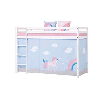 Hoppekids Forhæng, Unicorn til mellemhøj seng 90x200 cm - Hoppekids - Babymøbler - Hoppekids
