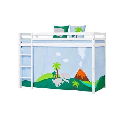 Hoppekids Forhæng, Dino til mellemhøj seng 90x200 cm - Hoppekids - Babymøbler - Hoppekids