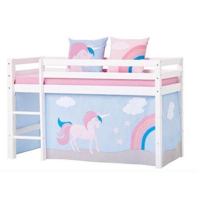 Hoppekids Forhæng, Unicorn til halvhøj seng 90x200 cm - Hoppekids - Babymøbler - Hoppekids