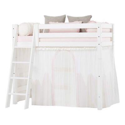 Hoppekids Forhæng med tyl, Winter Wonderland til mellemhøj seng 160 cm - Hoppekids - Babymøbler - Hoppekids