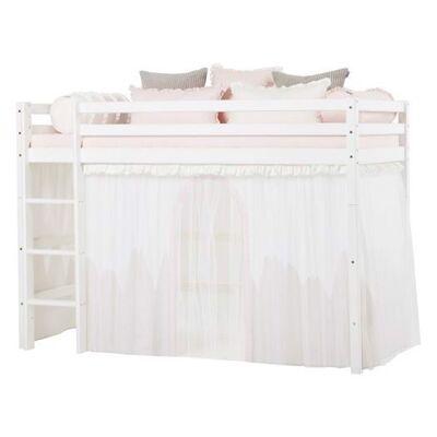 Hoppekids Forhæng med tyl, Winter Wonderland til mellemhøj seng 200 cm - Hoppekids - Babymøbler - Hoppekids