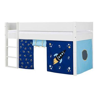 Huxie Manis-h halvhøj seng, delbar, med blå madras - 200 cm - Babymøbler - Huxie
