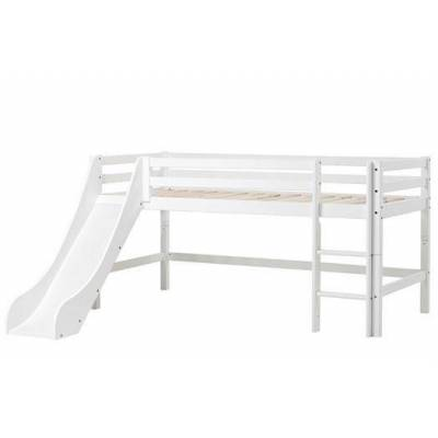 Hoppekids Halvhøj seng 190 cm m. rutsjebane, Basic Delbar - Hoppekids - Babymøbler - Hoppekids