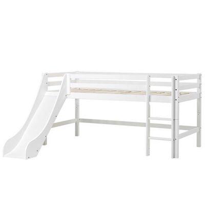 Hoppekids Halvhøj seng 160 cm m. rutsjebane, Basic Delbar - Hoppekids - Babymøbler - Hoppekids