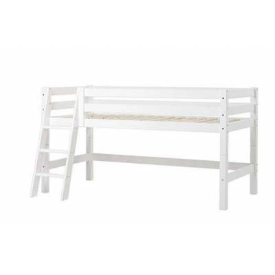 Hoppekids Halvhøj seng delbar, m. skrå stige, Premium 90x200 cm - Hoppekids - Babymøbler - Hoppekids