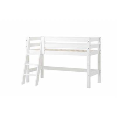 Hoppekids Halvhøj seng delbar, m. skrå stige, Premium 70x160 cm - Hoppekids - Babymøbler - Hoppekids
