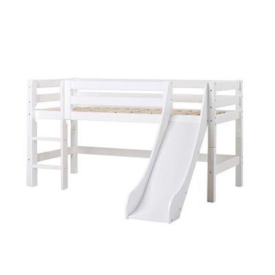 Hoppekids Halvhøj seng delbar m. rutsjebane, Premium - Hoppekids VÆLG STØRRELSE - Babymøbler - Hoppekids