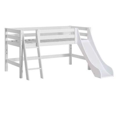 Hoppekids Halvhøj seng delbar m. skrå stige og rutsjebane 70x160 cm, Premium - Hoppekids - Babymøbler - Hoppekids