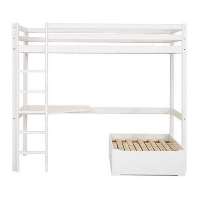 Hoppekids Højseng Basic delbar m. loungemodul og skrivebord - Hoppekids - Babymøbler - Hoppekids