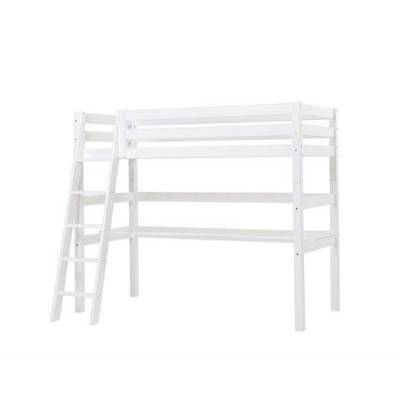 Hoppekids Højseng delbar m. skrå stige og skrivebord 90x200 cm, Premium - Hoppekids - Babymøbler - Hoppekids