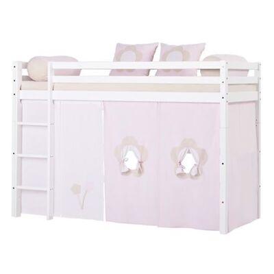 Hoppekids Forhæng, Fairytale Flower mellemhøj seng, 160 cm - Hoppekids - Babymøbler - Hoppekids