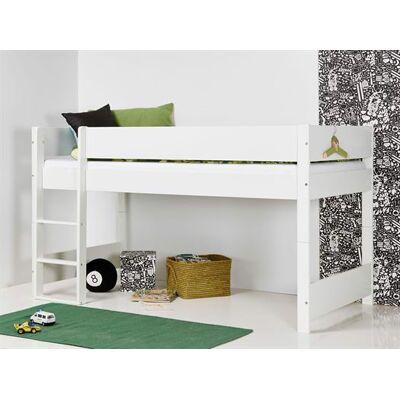 Huxie Manis-h halvhøj seng, delbar, blå madras - 160 cm - Babymøbler - Huxie