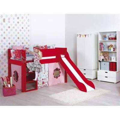 Manis-h Halvhøj seng med rutsjebane, 160 cm Valgfri farve - Manis-h - Babymøbler - Manis-h
