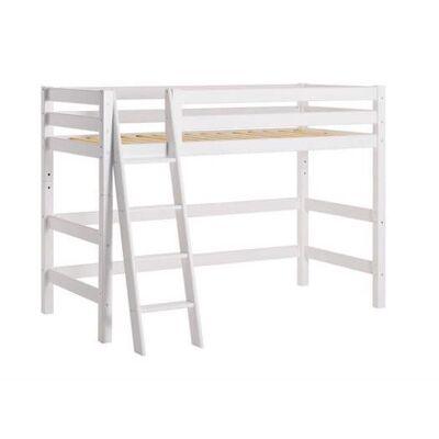 Hoppekids Mellemhøj seng delbar m. skrå stige 90x200 cm, Premium - Hoppekids - Babymøbler - Hoppekids