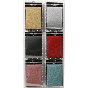 Creativ Company Strygestof, ass. farver, 148x210 mm, glitter, 10 ark, 6 ass.