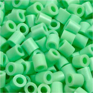 Nabbi Rørperler, str. 5x5 mm, hulstr. 2,5 mm, grøn pastel (32252), medium, 1100stk.