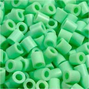 Nabbi Rørperler, str. 5x5 mm, hulstr. 2,5 mm, grøn pastel (32252), medium, 6000stk.