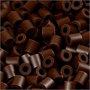 Nabbi PhotoPearls, str. 5x5 mm, hulstr. 2,5 mm, mørk brun (2), 1100stk.