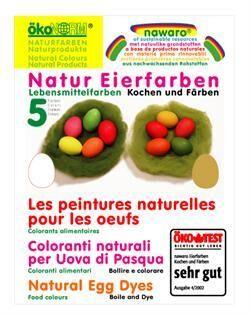 Æggefarve, naturlige farver