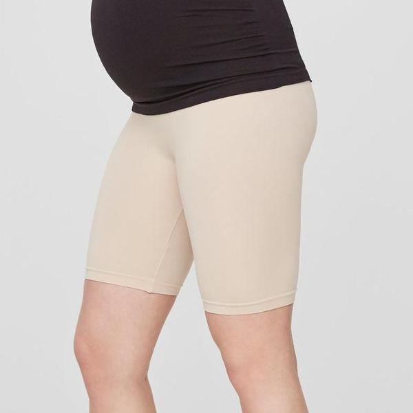 Mamalicious Korte Leggings/shorts Til Gravide - Nude - L/xl