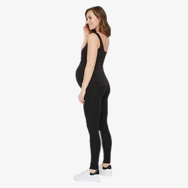 Mamalicious 2-Pack Graviditetsleggings I Økologisk Bomuld - Sort - Xs