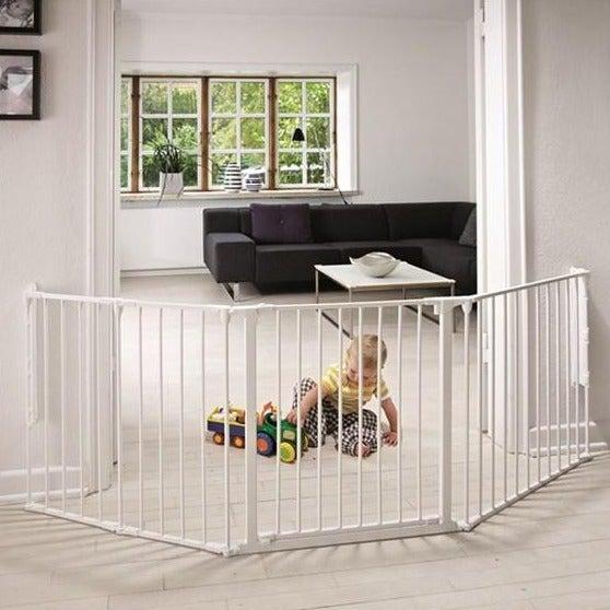 Babydan Sikkerheds-Gitter Flex L - Hvid