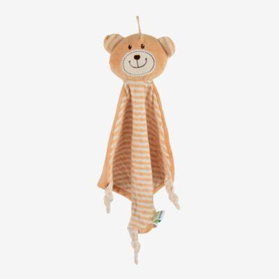Magni økologisk nusseklud med bamse - Baby Spisetid - Magni
