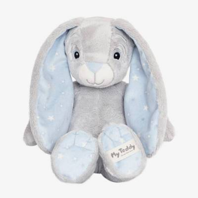 "My Teddy ""New born star"" bamse - Blå kanin - Baby Spisetid - My teddy"