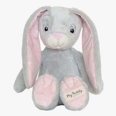 "My Teddy ""New born star"" bamse - Rosa kanin - Baby Spisetid - My teddy"